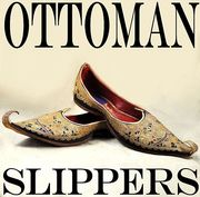 Ottoman slippers with gold & silver metal and silk embroidery