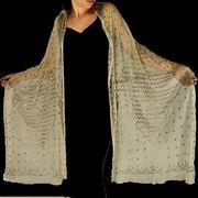 1920s Art Deco Egyptian Revival Assuit shawl