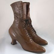 High Top Victorian Brown Boots 5th Avenue