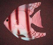 Pink and Cinnamon Art-Deco Fish