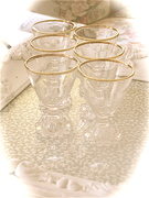 Set of Six Boopie Vintage Cordial Glasses