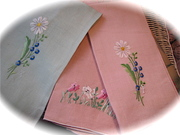 Set of Three Vintage Guest Hand Towels