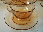 Elegant Glass Cup and Saucer
