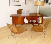 Danish Modern Desk/Eames Chairs-SOLD