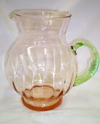Beautiful Tiffin Elegant Glass Pitcher Pink and Vaseline