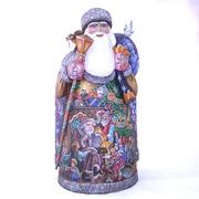 """Unique Collectible Russian Santa Figurine 17.7"""""""