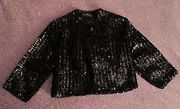 Sequin Bolero Black Vintage Jacket