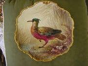 FRENCH LIMOGE GAME PLATE, ARTIST SIGNATURE,MINT CIRCA.1900