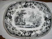 RARE IRONSTONE PATTER ASIA DISPLAY'D PATTERN BY I.H. & CO.