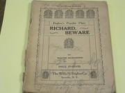 Bugbee Popular Play 1928 - Richard, Beware