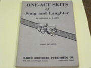 One-act Skits of Song&Laughter - 1936 Arthur Kaser