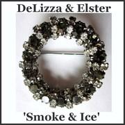 DeLizza & Elster 'Smoke & Ice' Circle Brooch