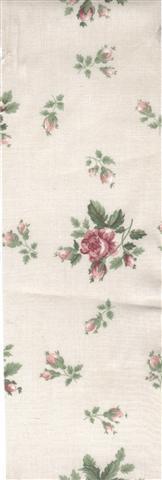 floral strip fabric vintage