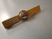 Reverse Painted Intaglio Tie Clip