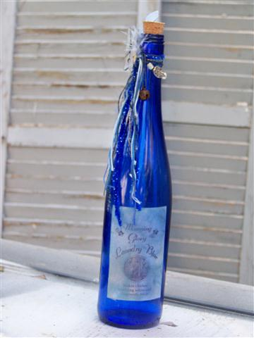 Upcycled Blue cleaning bottle