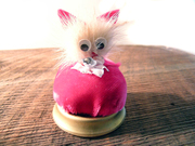 Adorable Vintage Pin Cushion Genuine Mink Cat