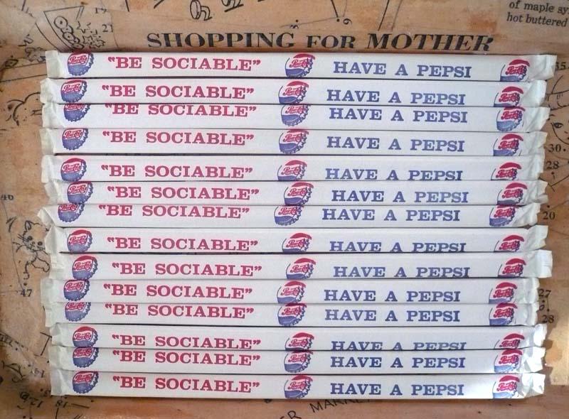 Vintage Soda Paper Straws Pepsi