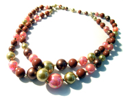 Vintage Fifties Necklace Multi Strand Iridescent Wow