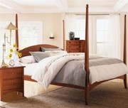 Kincaid Gathering House Pencil Poster Bed, Queen, Cherry, Never Used! Brand New