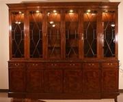 Leighton Hall Lighted Curio Cabinet