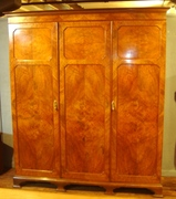 Scottish Walnut three door armoire