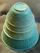 Homer Laughlin Orange Tree Mixing bowls