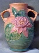 Roseville Water Lily Vase