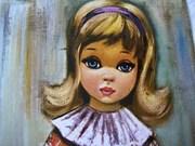 Vintage Big Eyed Girl Print