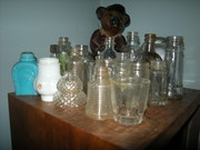 Old small jars and bottles