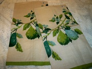 Vintage Luther Travis Fruit Pears Kitchen Towels MWT