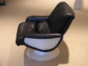 Finnish swivel arm chair designed by Yrjo Kukkapuro