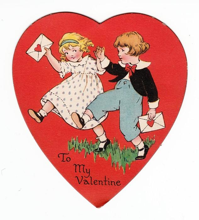 Vintage Valentine's Day Card c1925-1932