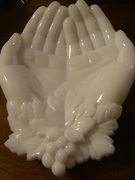Milk Glass Hands