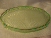 Green Depression Glass Tray