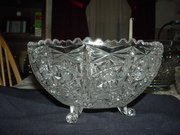 Three Footed Crystal Bowl - Unknown Maker