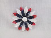 Enamel Flower Brooch