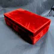 Vintage luxury velvet Marvella jewelry box
