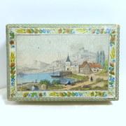 Antique French box hand painted La Gross Bordeaux