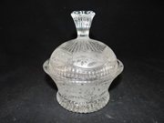 Elegant Frosted Glass Candy Dish