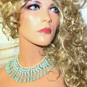 Vintage designer signed Kramer statement necklace