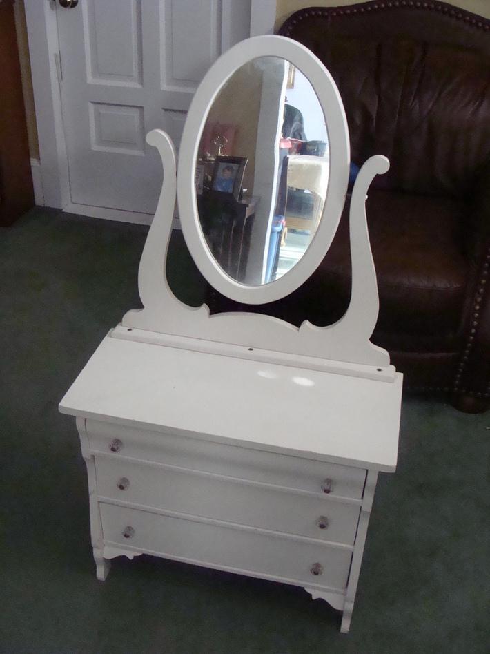 Child's Vintage Dresser and Mirror  - Chldren's Furniture