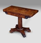 antique mahogany card table