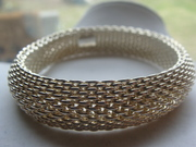 Tiffany 925 Sterling Silver Somerset Mesh Bracelet