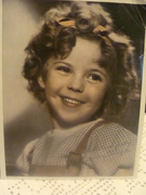 Autographed Photo of Shirley Temple as child