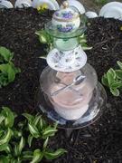 Violet Glass Totem in the Garden