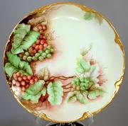 Vintage Bavarian Porcelain Hand Painted  J And C Grape Plate