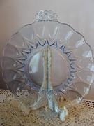 Janice Blue glass Handled Plate