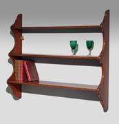 antique mahogany shelves