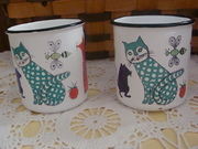 Finel Enamel Childs Cup made in Finland - Mid Century