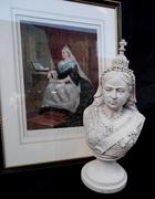 stone bust queen victoria.